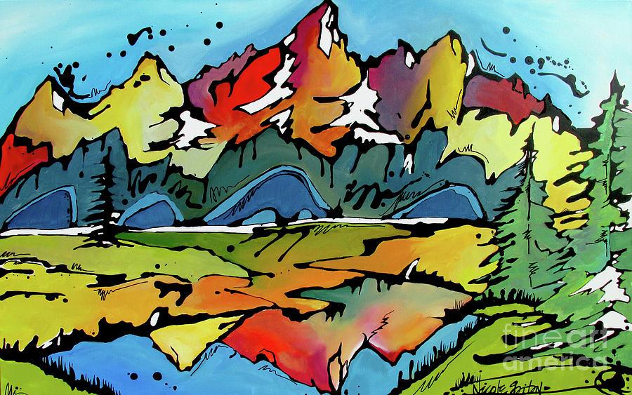 Grand Teton Painting - A Memory by Nicole Gaitan