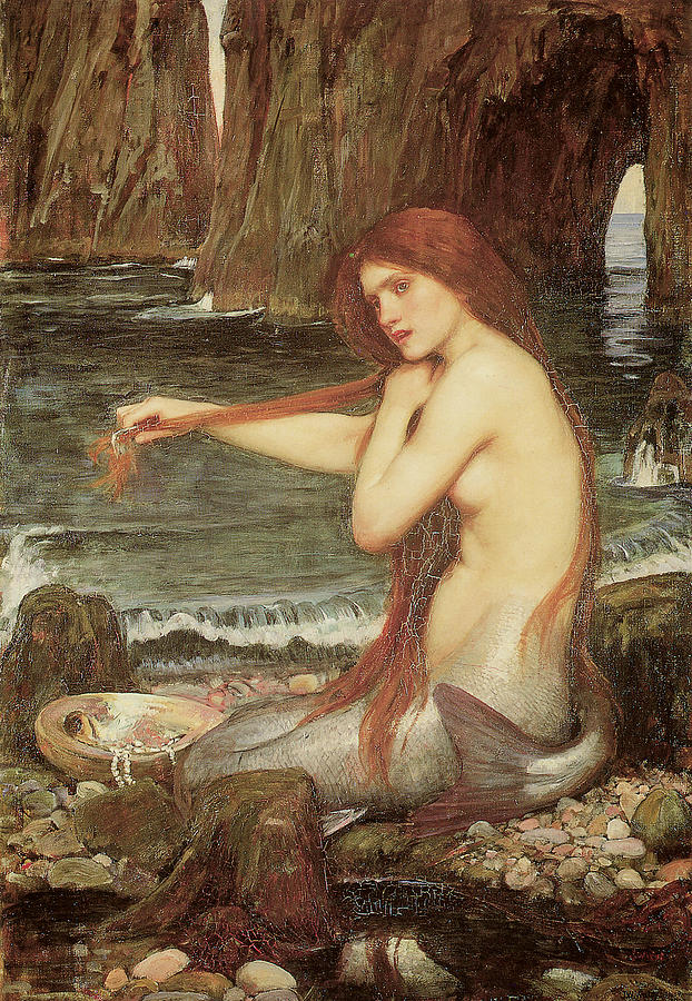 Image result for A Mermaid by Waterhouse