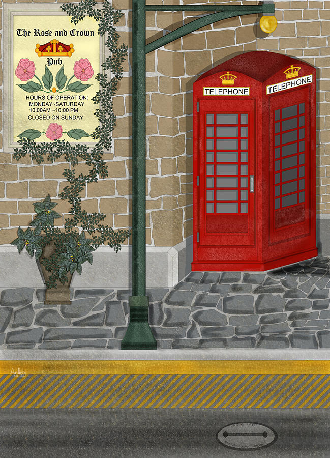 Cityscape Painting - A Merry Old Corner In London by Anne Norskog