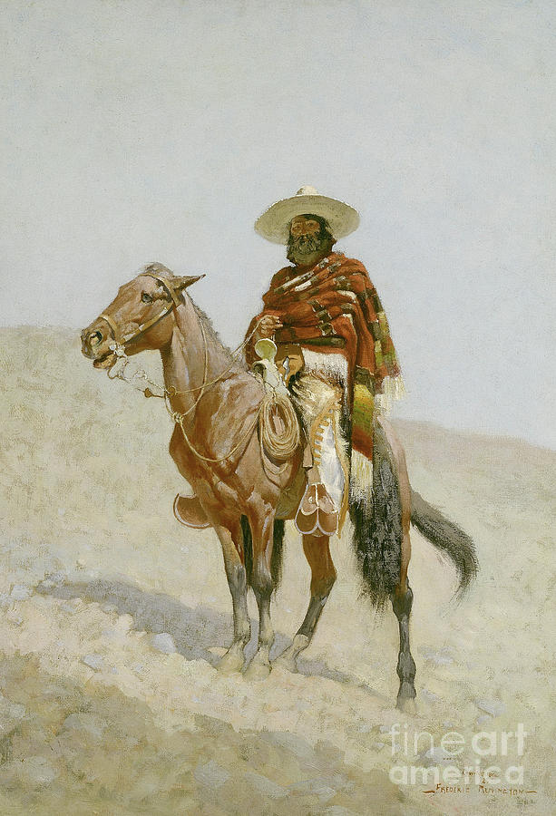 Remington Painting - A Mexican Vaquero by Frederic Remington