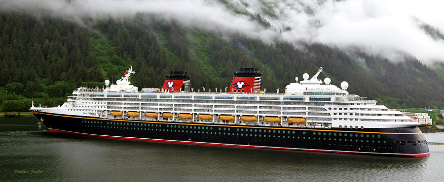 Barbara Snyder Painting - A Mickey Mouse Cruise Ship by Barbara Snyder