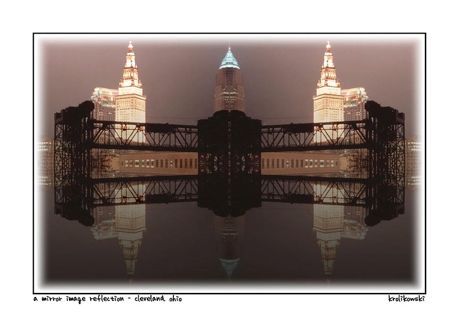 A Mirror Image Reflection Greeting Card Photograph
