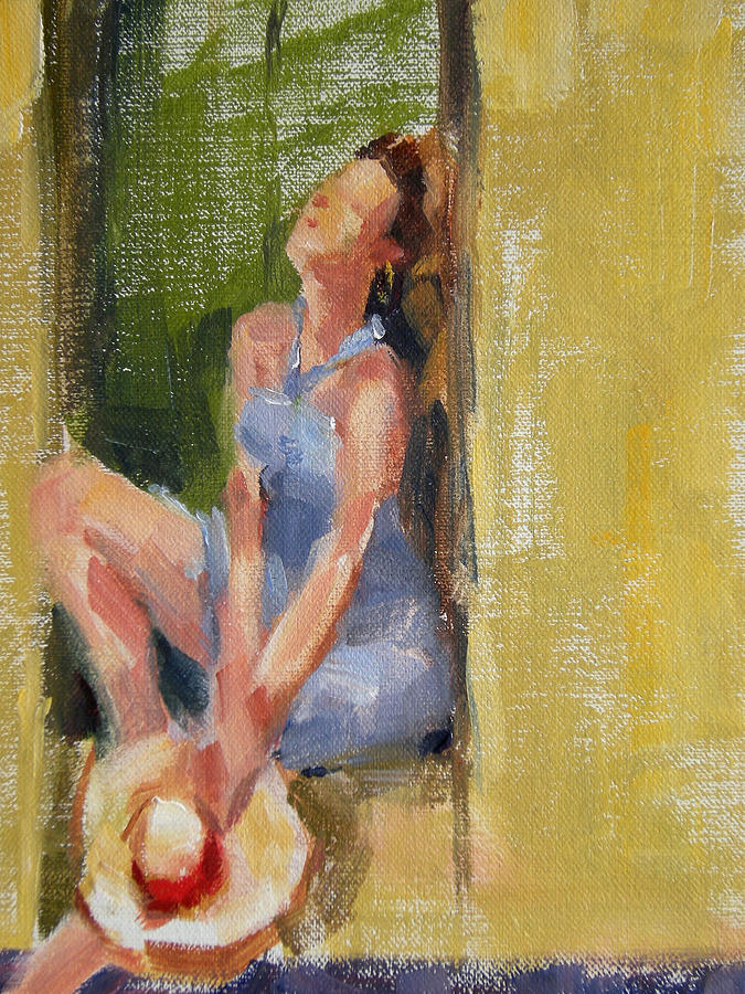 Figurative Painting - A Moment In The Sun by Merle Keller
