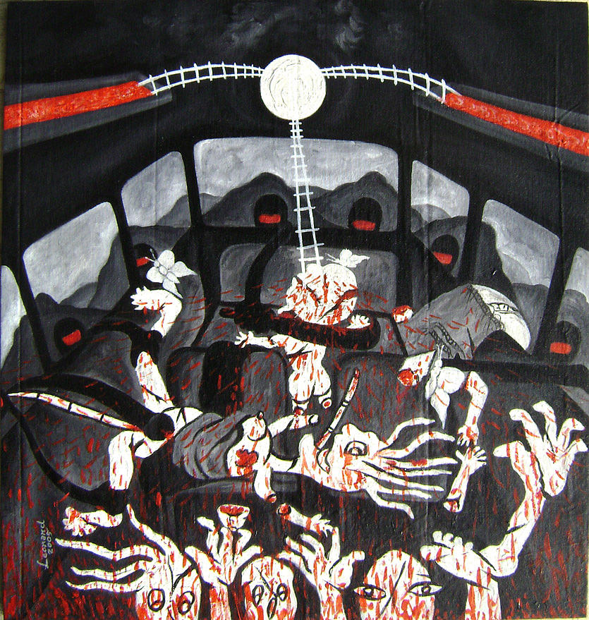 Painting Painting - A Moment Of Blood In Charchim by Leonard Bey
