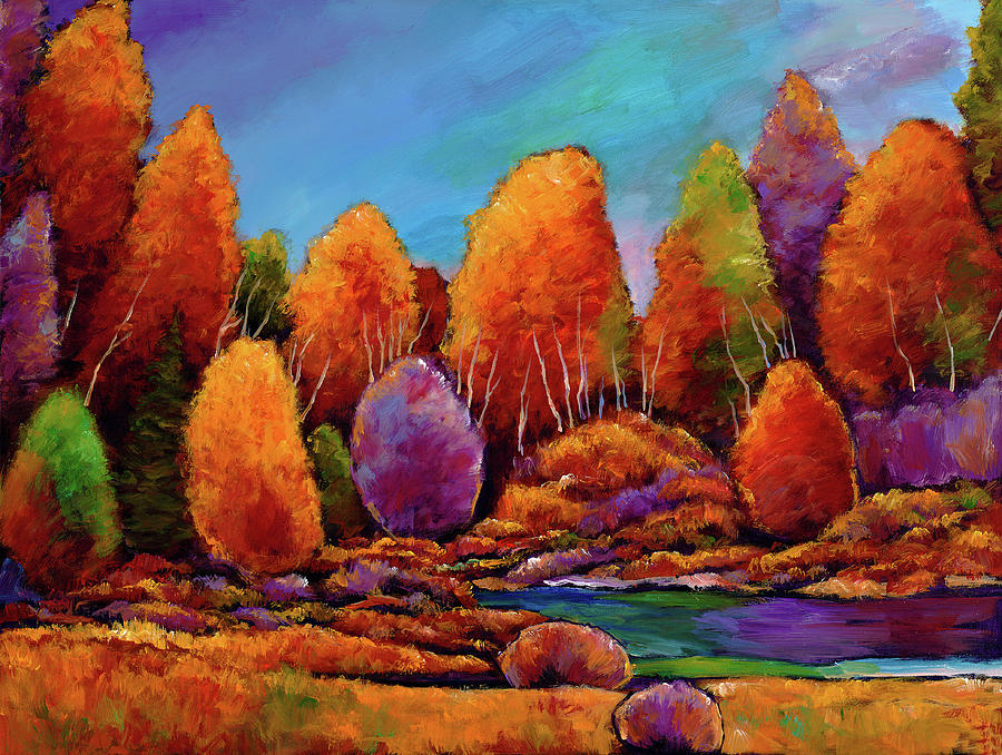 Landscape Painting - A Moments Embrace by Johnathan Harris