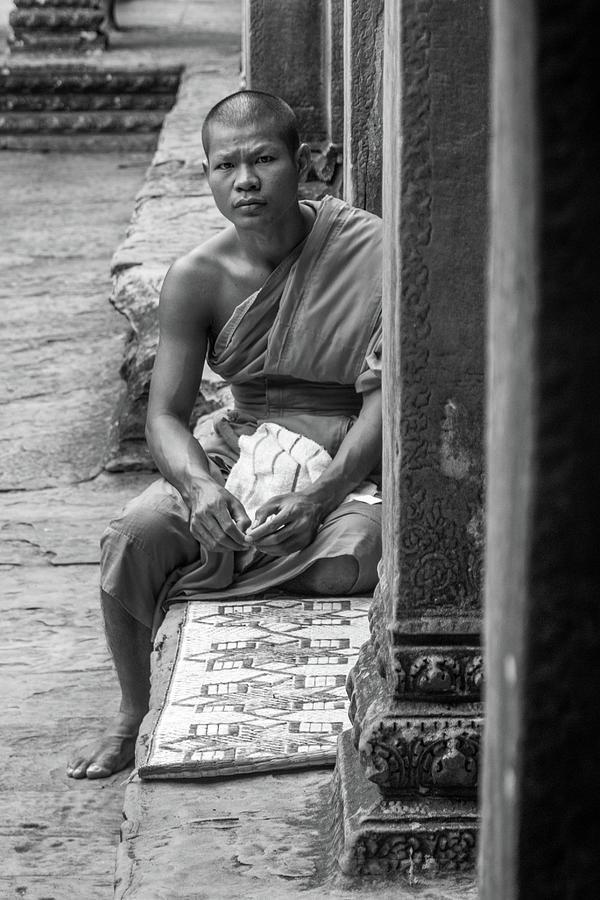 A Monk at Angkor Wat by Sam Morris