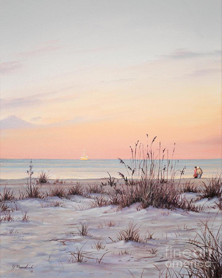Seascape Painting - A Morning Stroll by Joe Mandrick