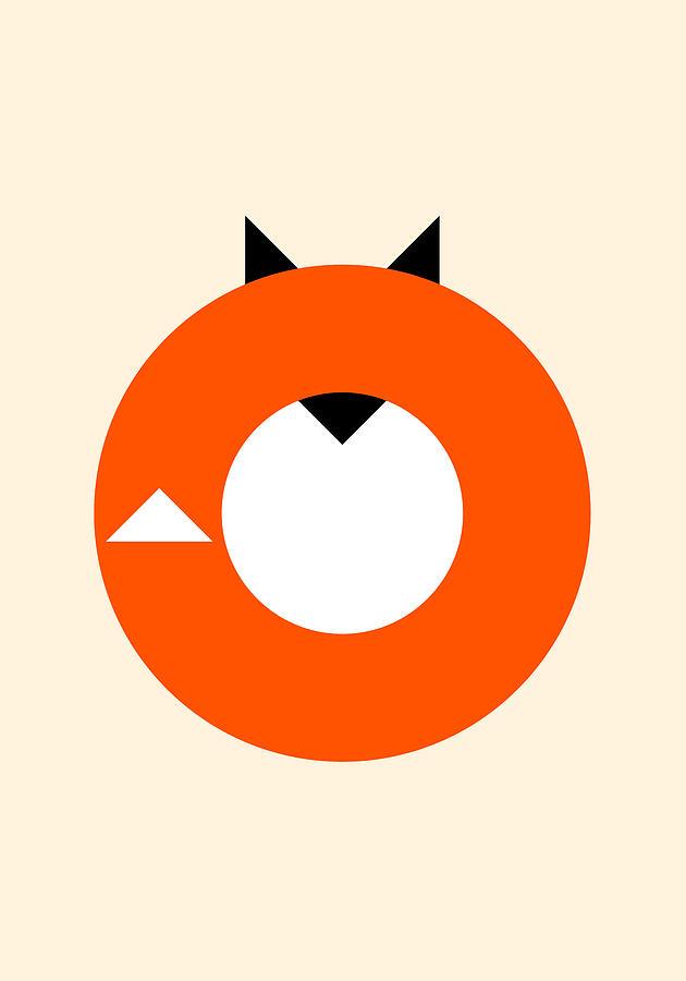 Fox Digital Art - A Most Minimalist Fox by Nicholas Ely