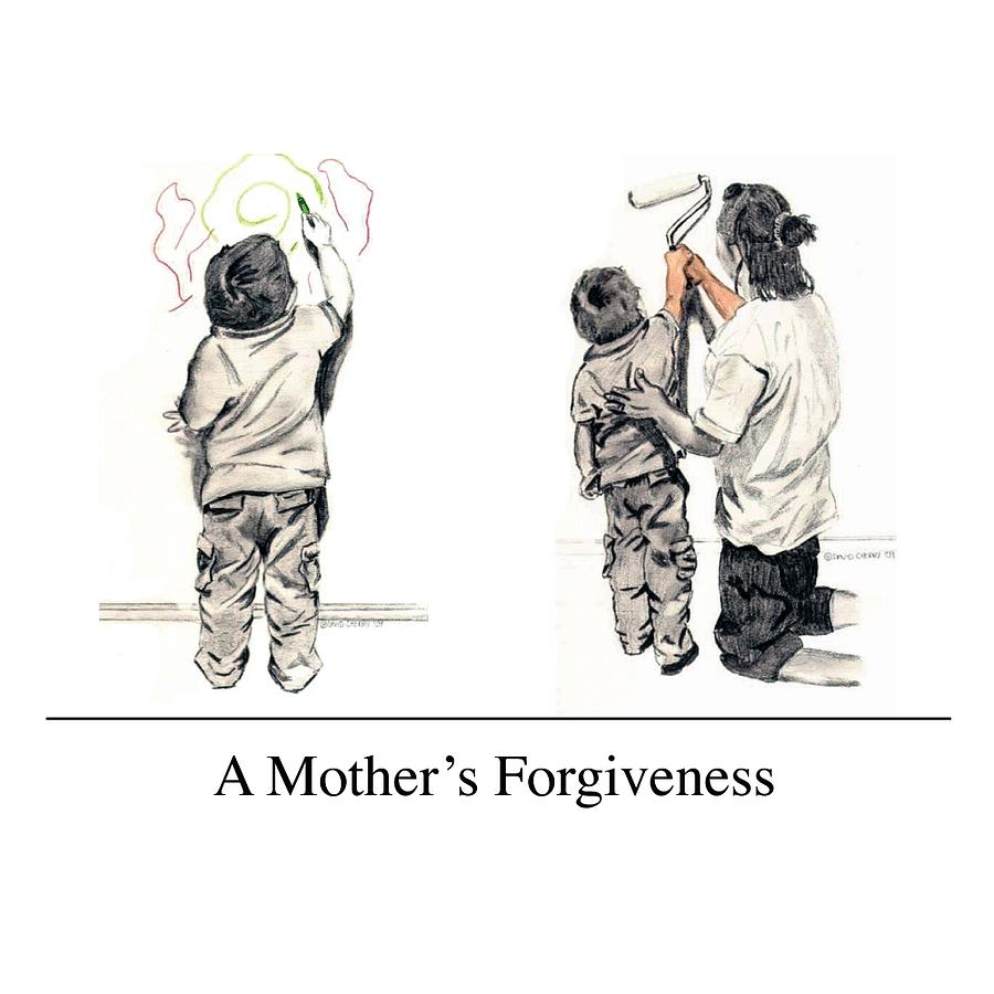 Forgiveness Drawing - A Mothers Forgiveness by David Cherry