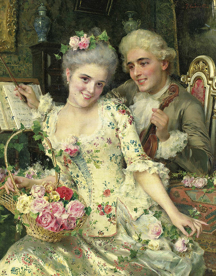 Fédérico Andréotti A-new-basket-of-flowers-federico-andreotti-