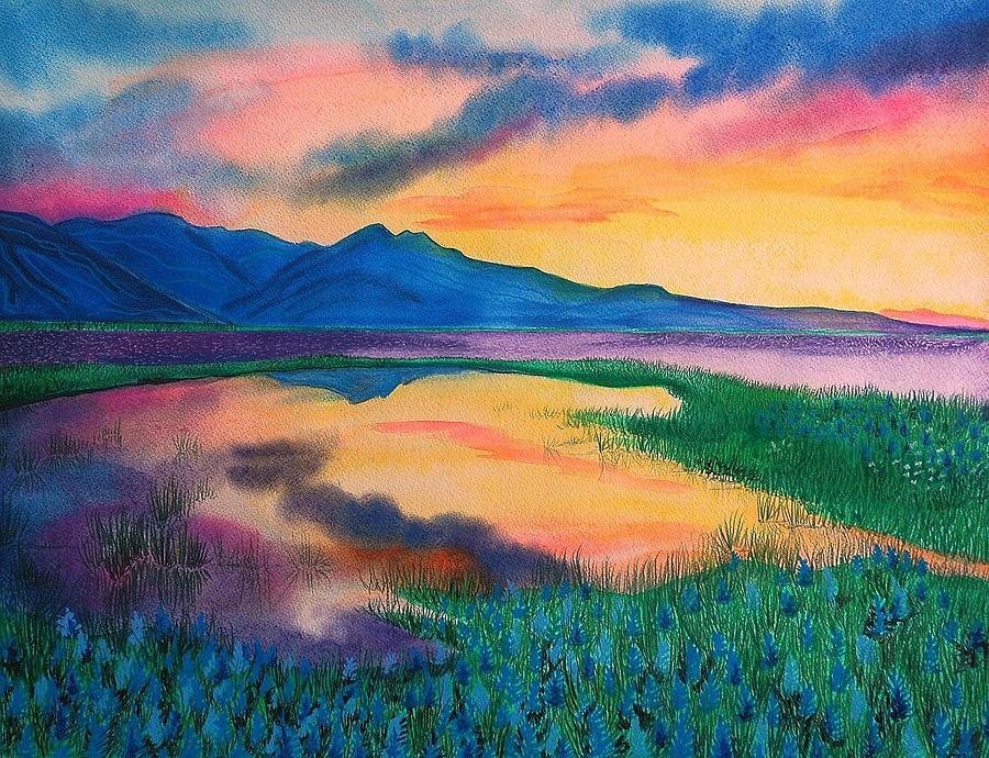 Landscape Painting - A New Beginning by Ramneek Narang