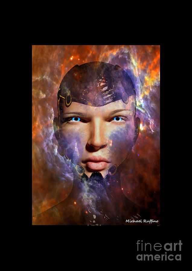 Female Digital Art - A New Creation by Michael Ruffino