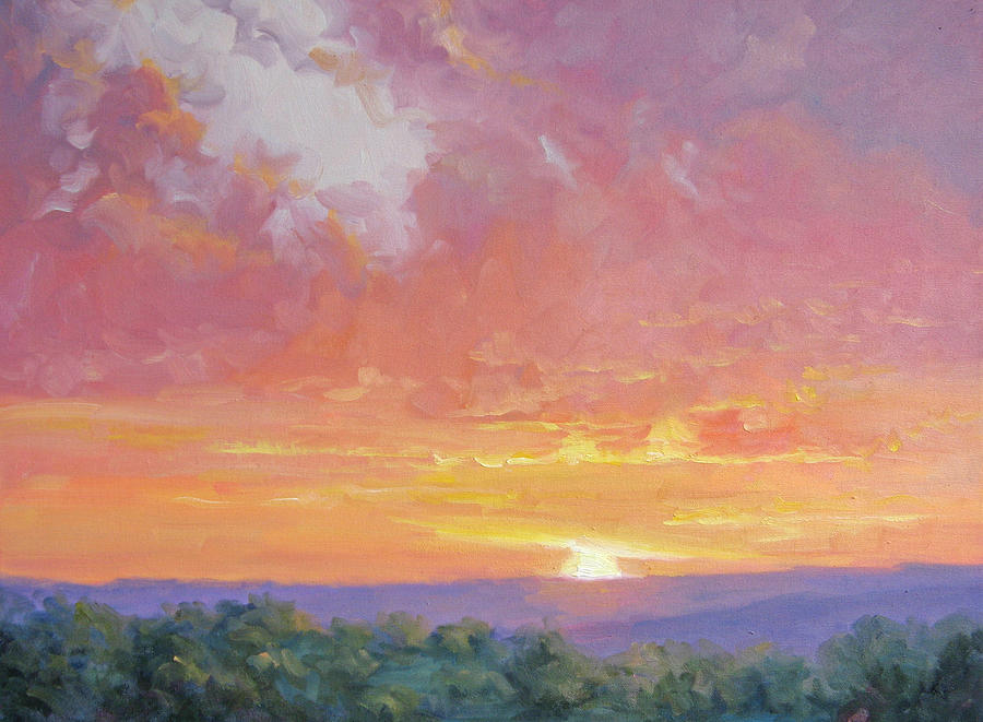 Sunrise Painting - A New Dawn by Bunny Oliver