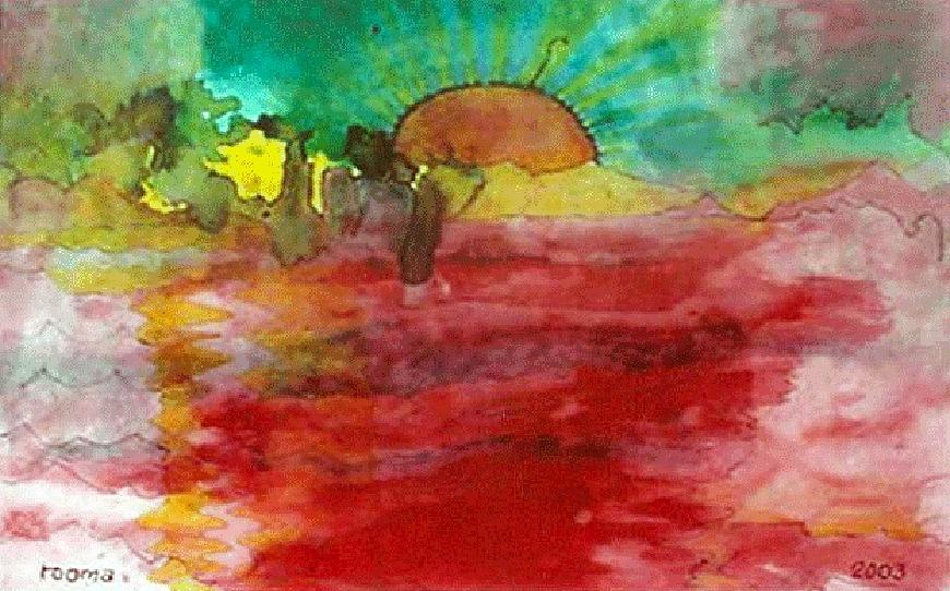 A New Dawn.. Painting by Rooma Mehra