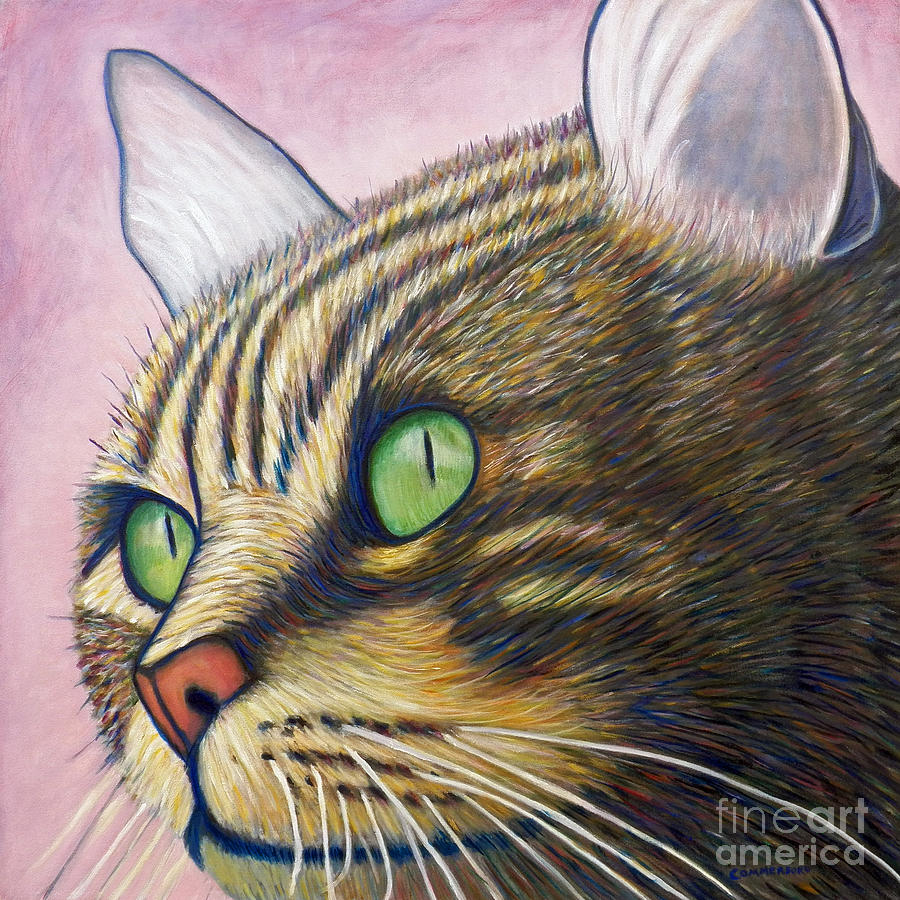 Cat Painting - A New Day by Brian  Commerford