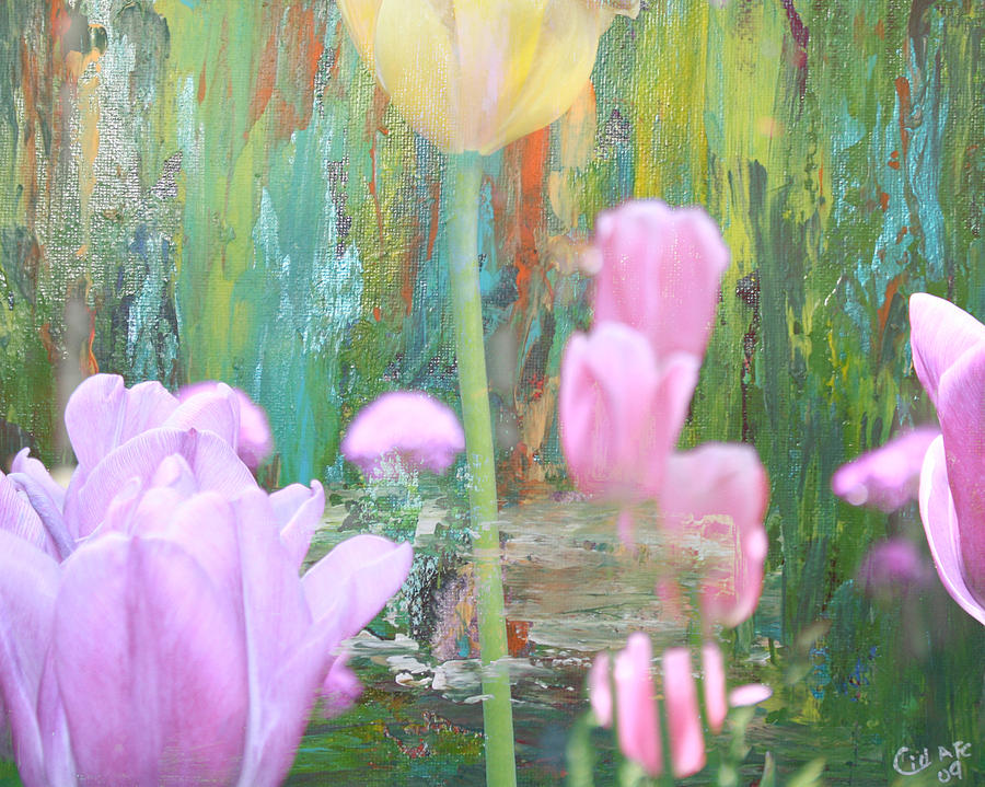 Floral Mixed Media - A New Day by  Cid