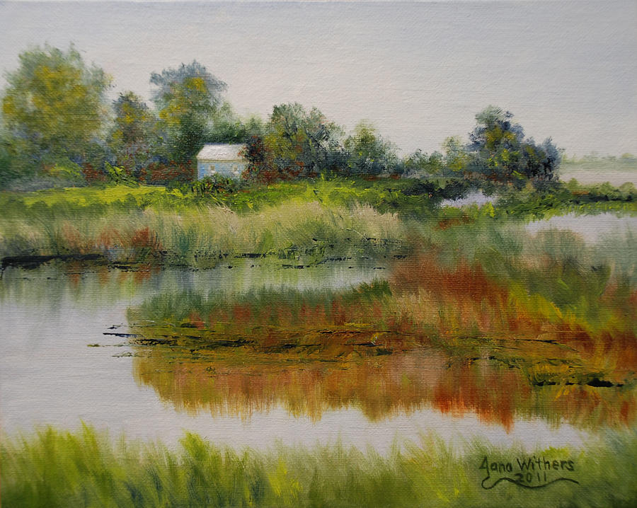 Bayou Painting - A New Day by Jana Withers