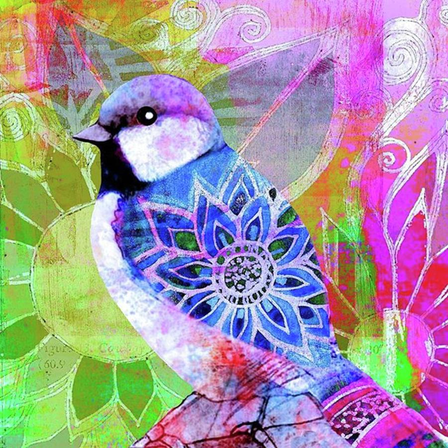 Ipad Photograph - A New Little Digital Bird by Robin Mead