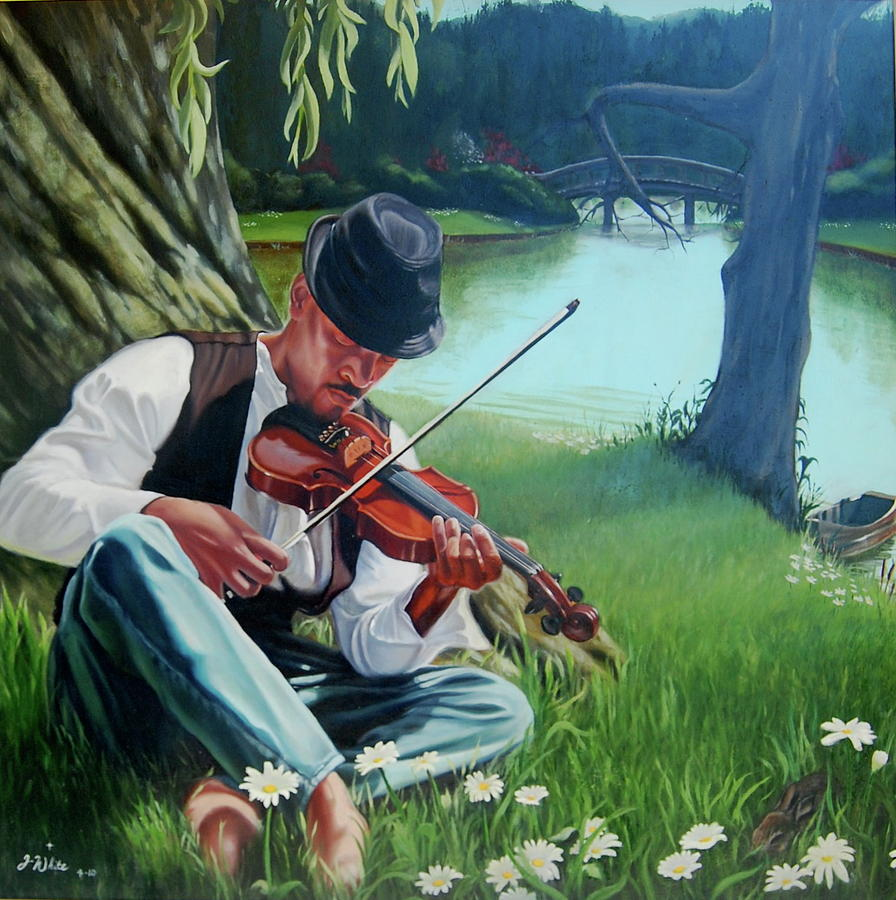New Painting - A new song for fiddler by Jerome White