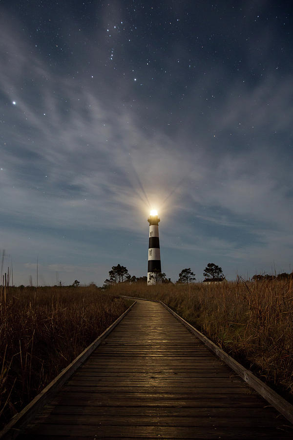 Bodie Island Lighthouse Photograph - A Night At Bodie Island Lighthouse by Jim Neal