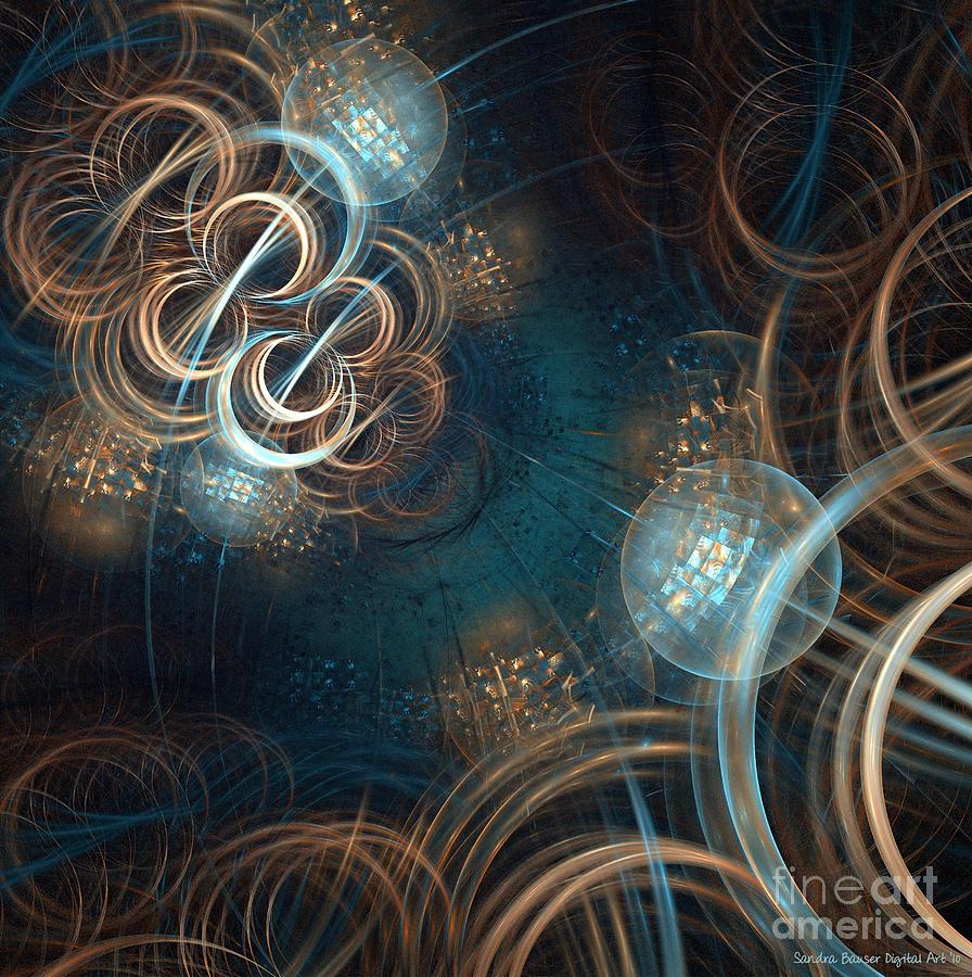 Digital Digital Art - A Night At The Disco by Sandra Bauser Digital Art