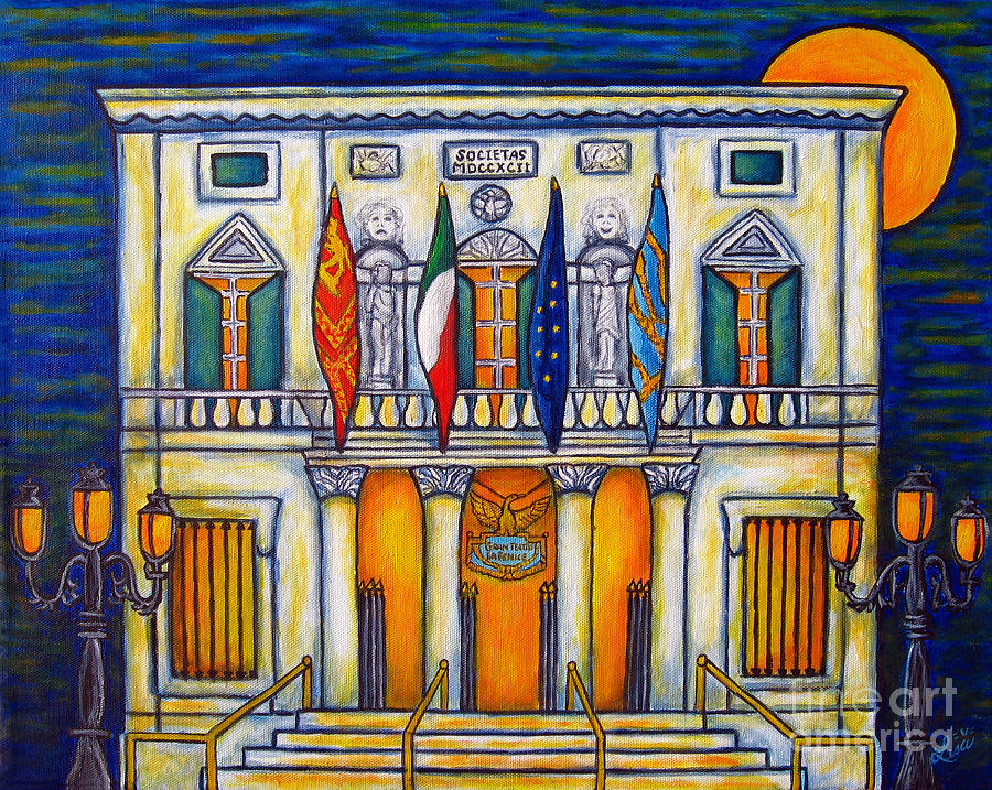 Theatre Painting - A Night At The Fenice by Lisa  Lorenz