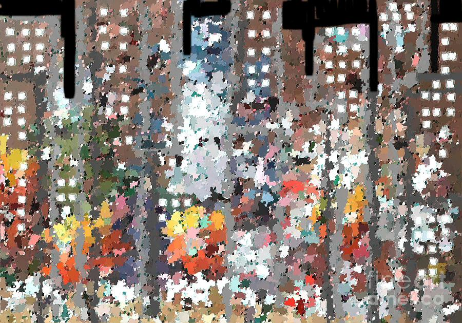 Abstract Painting - A Night In Chicago by Don Phillips