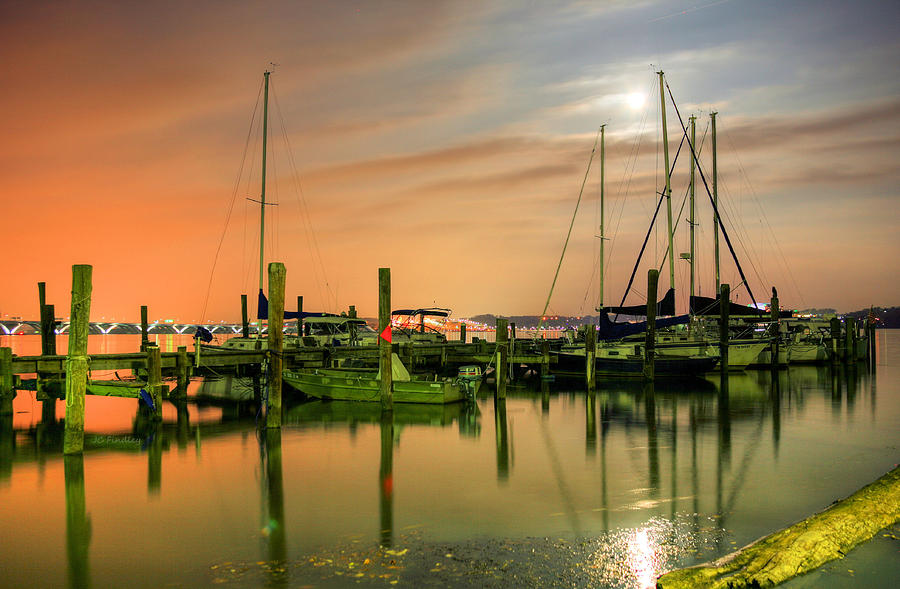 Potomac Photograph - A Night Out At The Marina by JC Findley