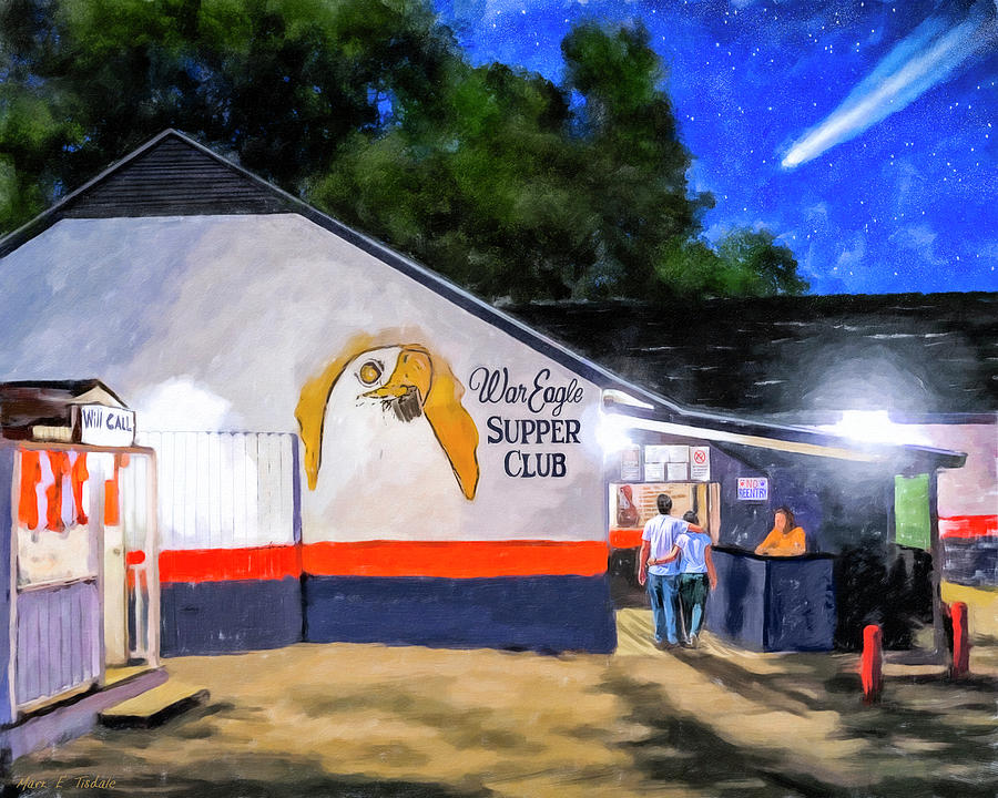 Auburn Mixed Media - A Night To Remember In Auburn by Mark Tisdale