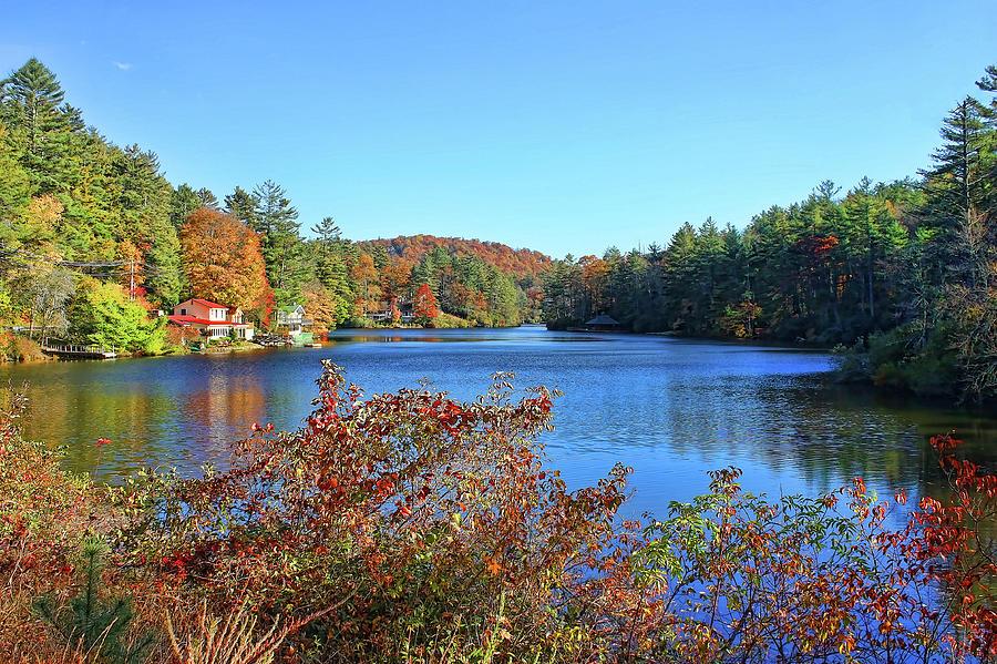 Lake Sequoyah Photograph - A North Carolina Autumn by HH Photography of Florida