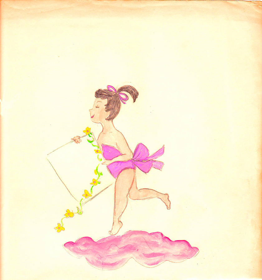 Heavenly Drawing - A Note From Heaven  Retro by Rosalie Scanlon