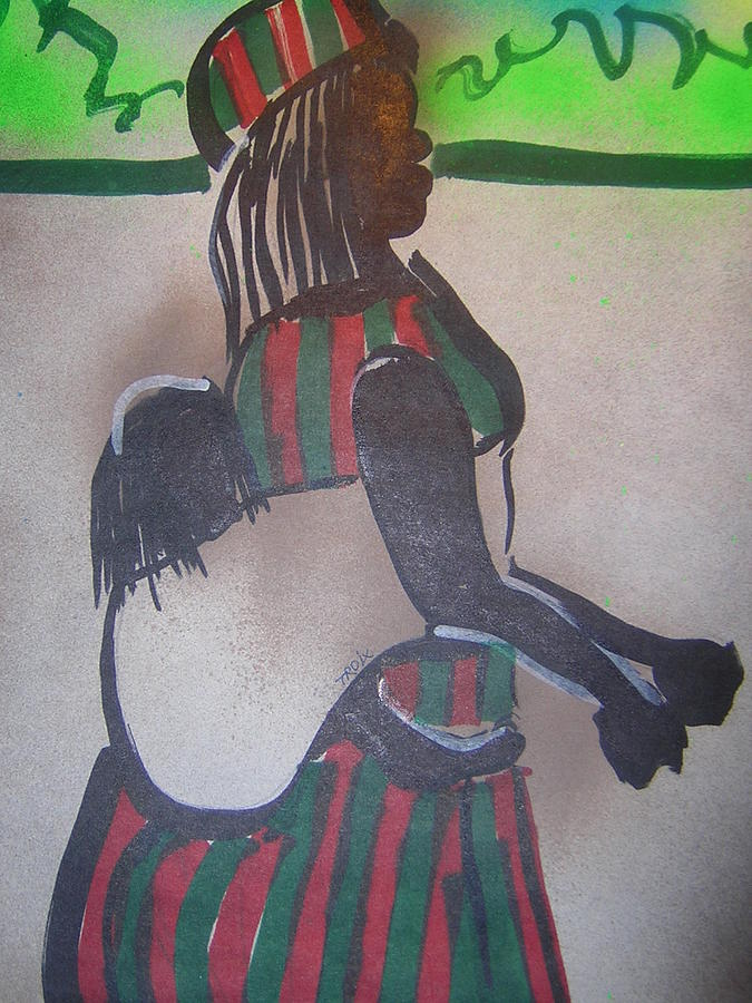 Mother Mixed Media - A Nun Dreaming Of Motherhood by Troix Johnson