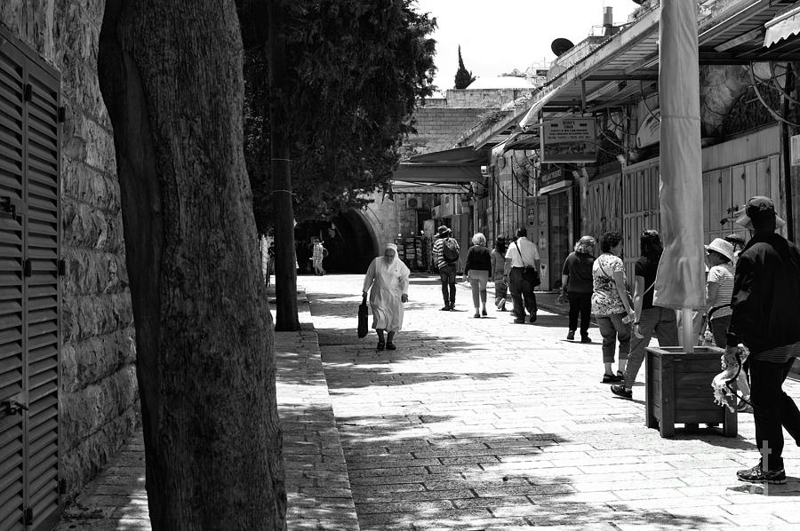 Nun Photograph - A Nuns Walk by John Rizzuto