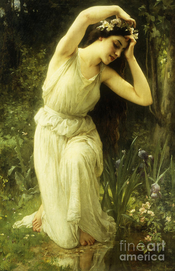a nymph in the forest painting by charles amable lenoir