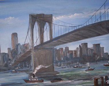 A Old View Of The 59 Th Street Bridge  Print by Richard Finnell