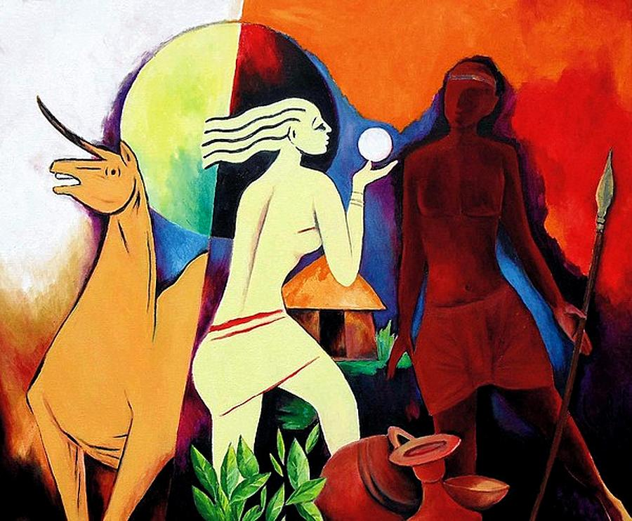A Page From History Painting by Lalit Jain