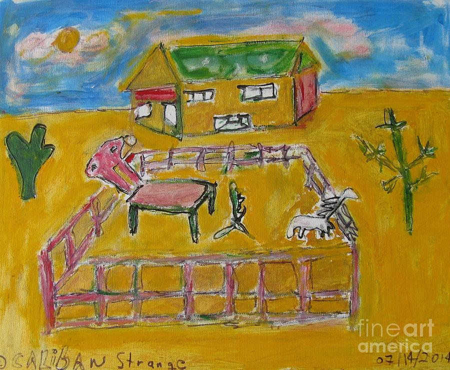 Nice Painting - A Painting Farm- small by Caliban Strange