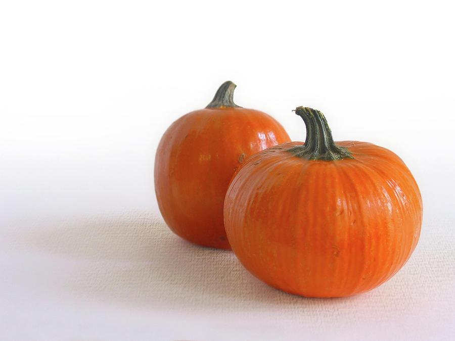Autumn Photograph -  A Pair Of Pumpkins by David and Carol Kelly