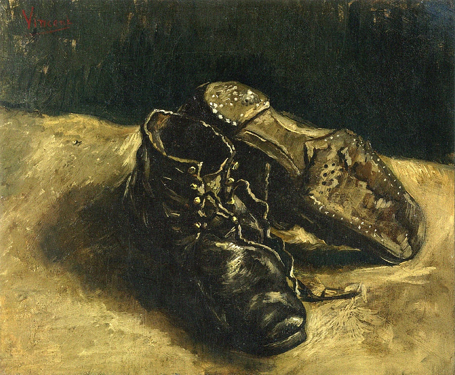 Shoes, 1887 01 Painting by Vincent Van Gogh