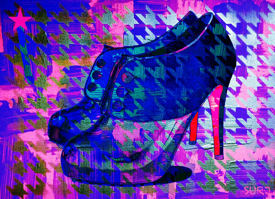 Louboutin Mixed Media - A Pair Of Shoes by Surj LA