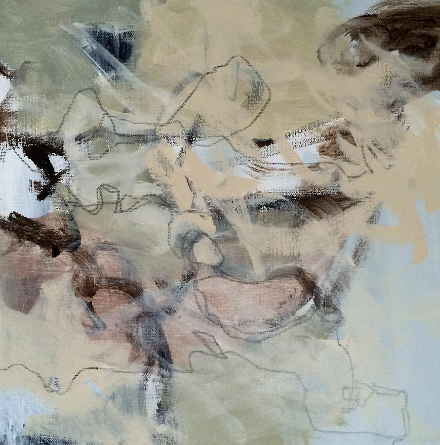 Abstract Painting - A Pale Mystique by Judy Jacobs