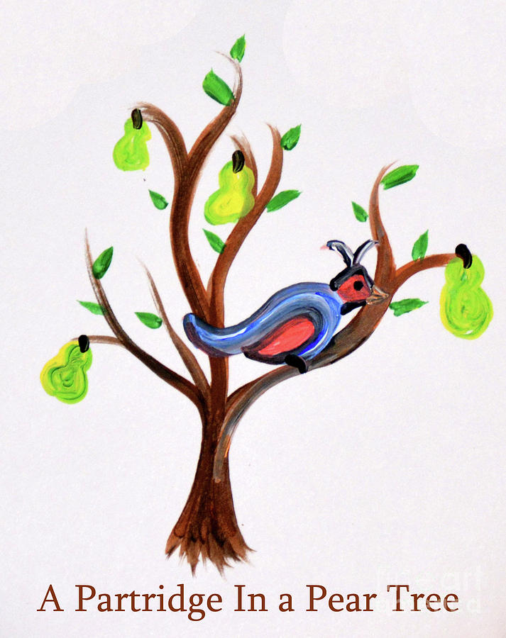 A Partridge In Pear Tree Painting By Melissa Hartner