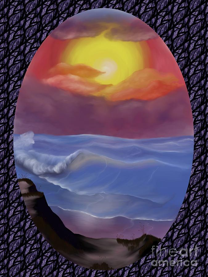 Pastel Digital Art - A Pastel Seascape  by Alisha at AlishaDawnCreations