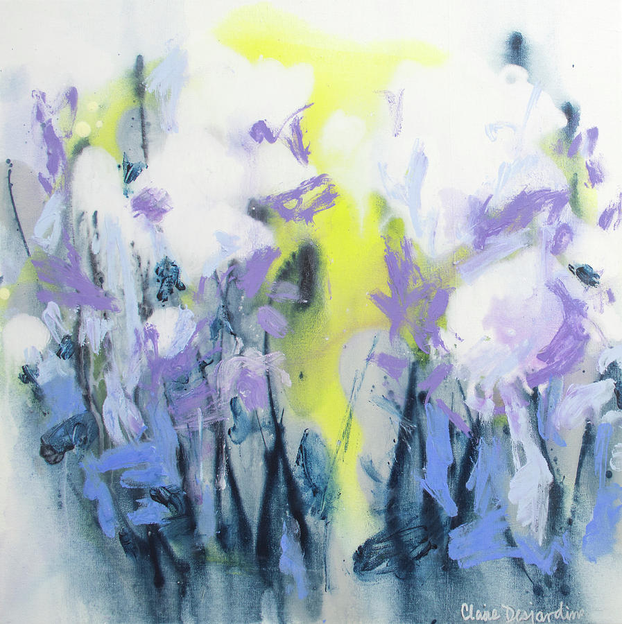 Abstract Painting - A Patch Of Purple by Claire Desjardins