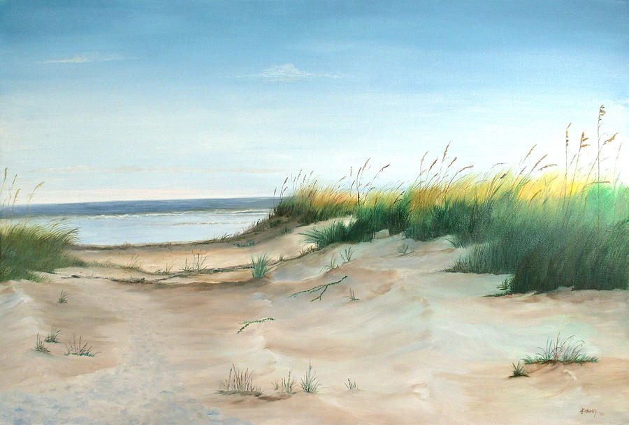Landscape Painting - A Path To The Sea by Kathie Henry