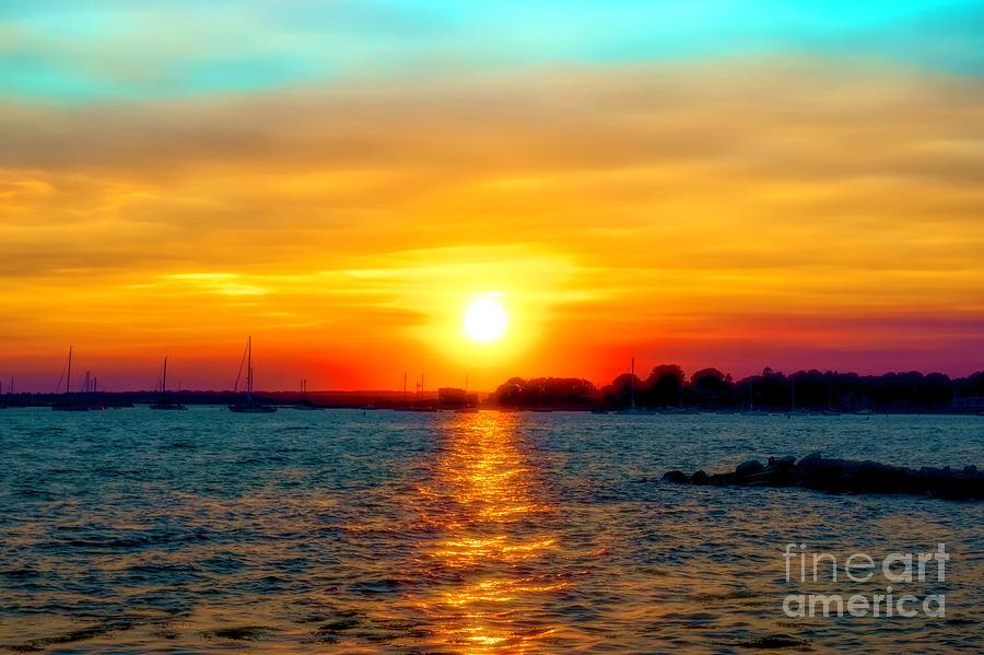 Sun Photograph - A Path To The Sun by Joe Geraci
