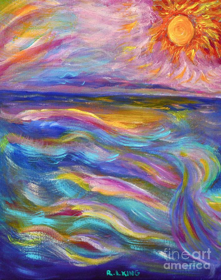 A Peaceful Mind - Abstract Painting by Robyn King