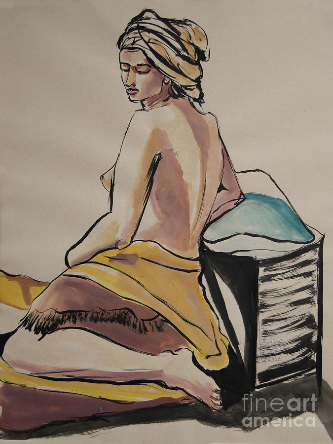 Figures Painting - A Peaceful Moment by George Chacon