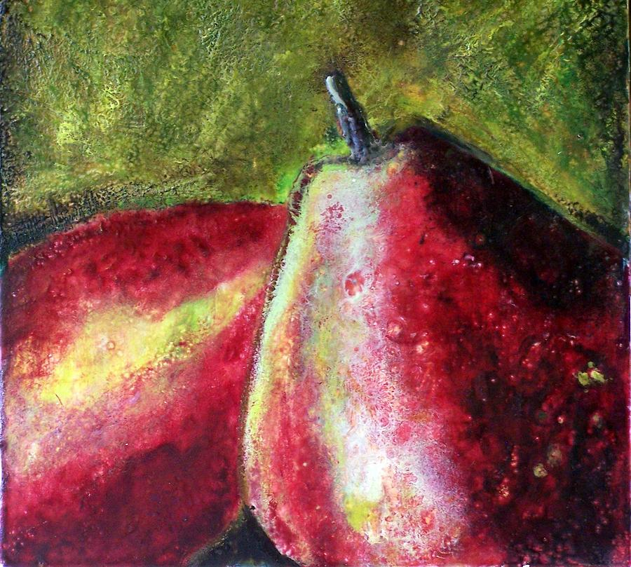 Fruit Painting - A Pear by Karla Phlypo-Price