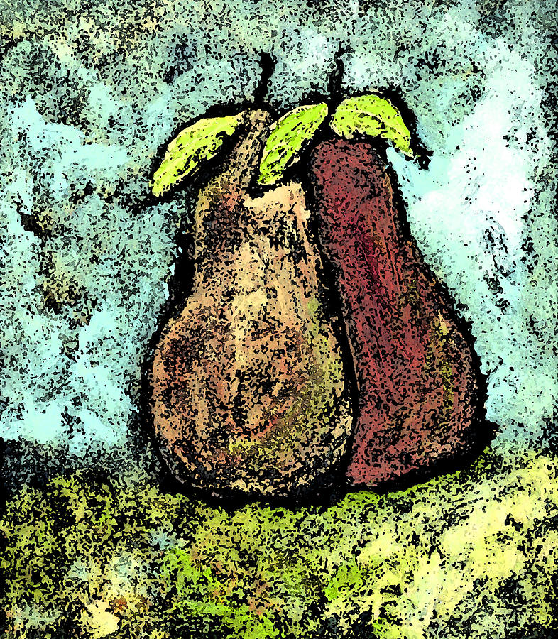 Pears Painting - A Pear Pair by Wayne Potrafka